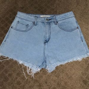Pacsun high rise denim shorts